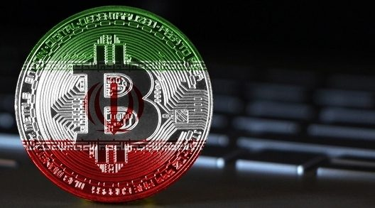 iran bitcoin flag